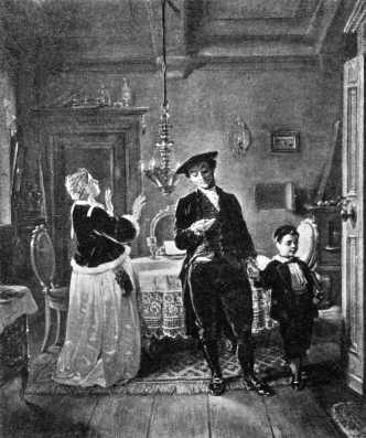Péntek este, 1880-as évek, Moritz Daniel Oppenheim festménye