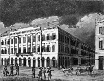 Az Ullman-ház, 1830-as évek, Vasquez litográfiája
